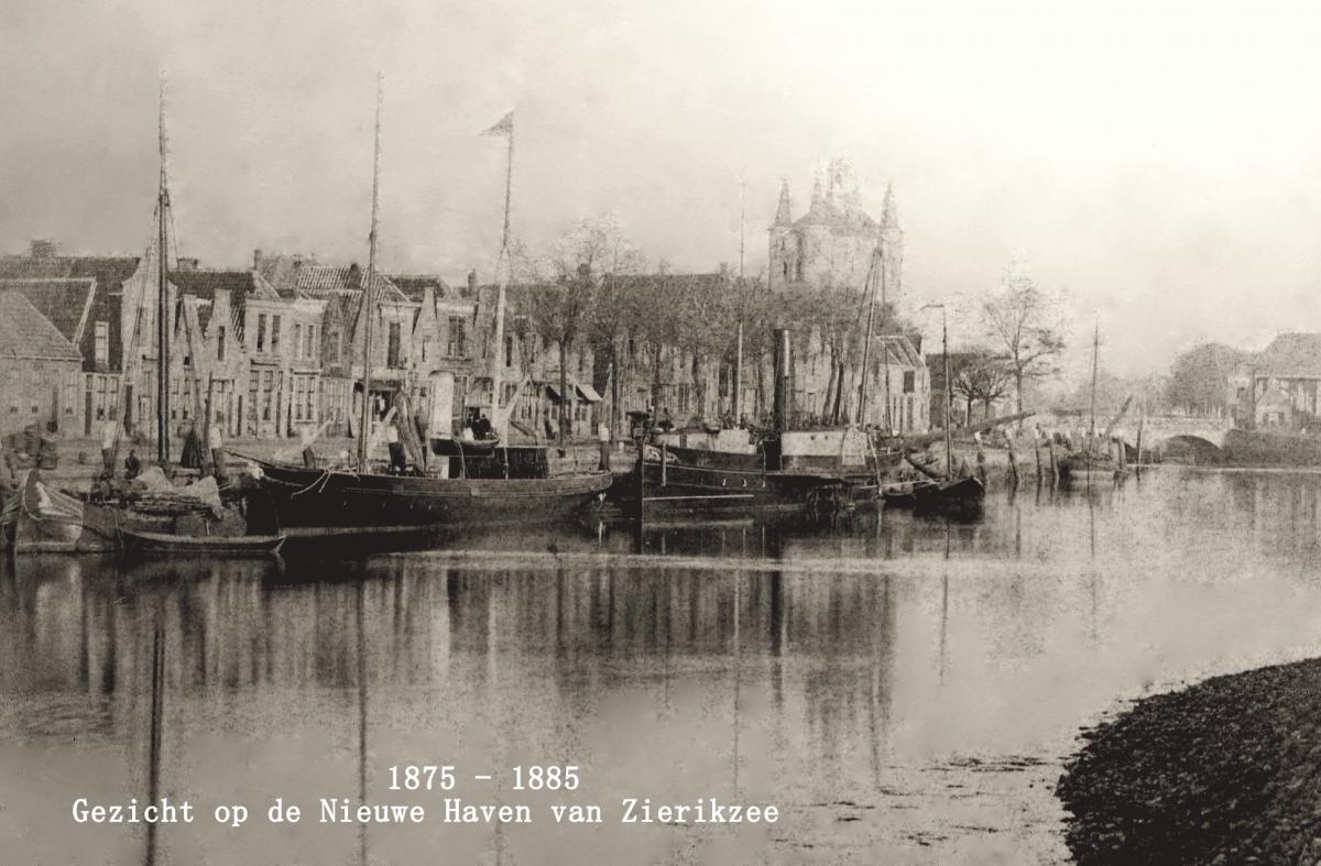 1875 1885 ZZE-1552 Zierikzee Nieuwe Haven bewerkt